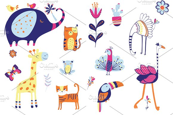 Cute animals character-Baby shower
