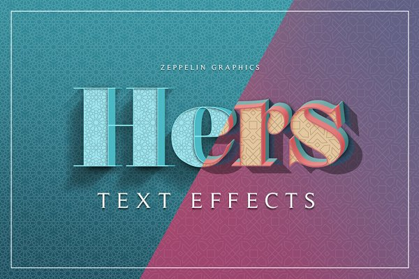 Hers 3D Text Effects