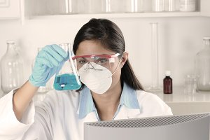 Young Female Lab Tech