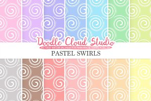 Pastel Swirls digital paper