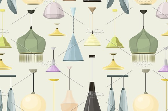 Lamps sign set for interior pattern