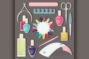 Nail salon set