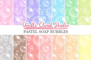 Pastel Soap Bubbles digital paper
