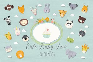 Cute Baby Faces Collection