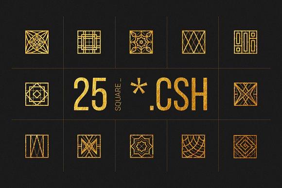 25 Linear Geometric Shapes Part IV