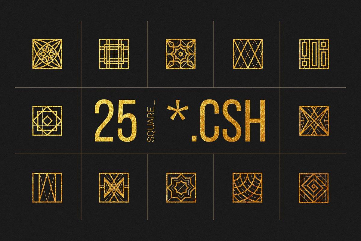 25 Linear Geometric Shapes. Part IV