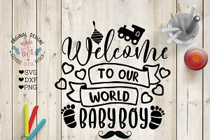 Welcome Baby Boy Cut File