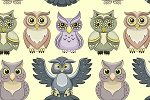 Pattern of color owls