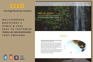 Cleo - One-Page Template