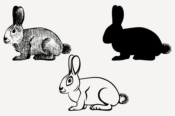 Hare Rabbit Vector SVG DXF PNG