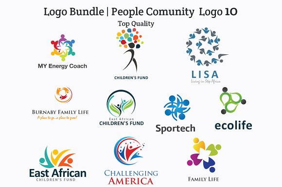 Logo Bundle 10 People Human Group