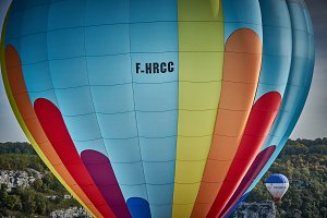 Colorful hot air-balloon