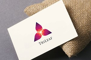 TriLeaf Pixel Logo