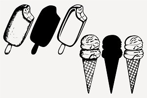 ice cream vector SVG DXF PNG