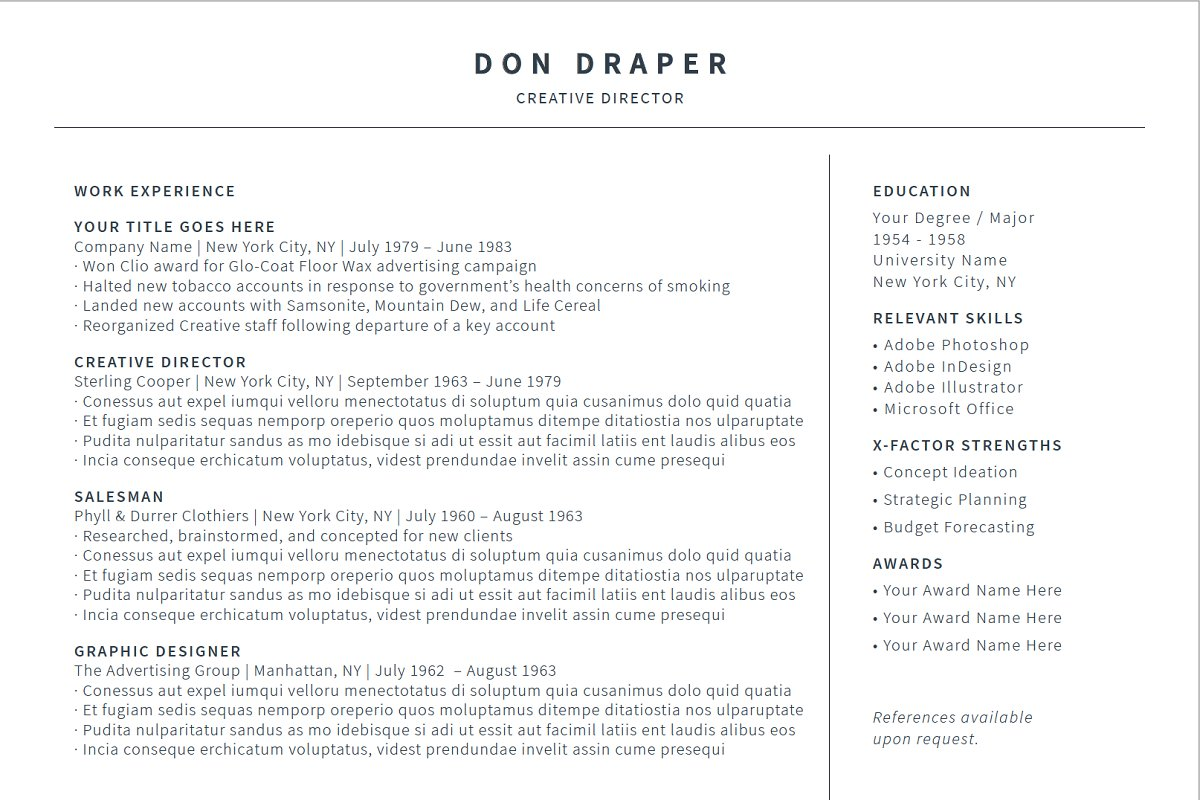 Simple Clean Resume/Cover Letter