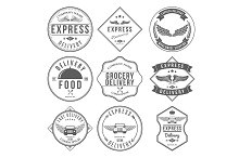 Express Delivery Label and Badges