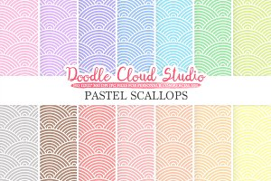 Pastel Scallops digital paper