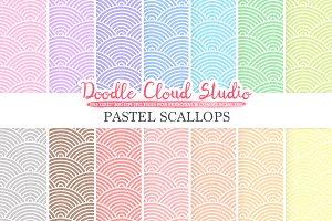 Pastel Scallops digital paper