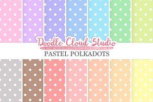 Pastel Polkadot digital paper