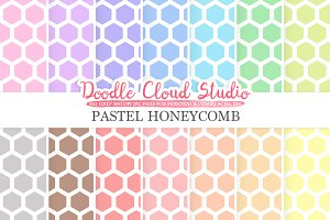 Pastel Honeycomb digital paper