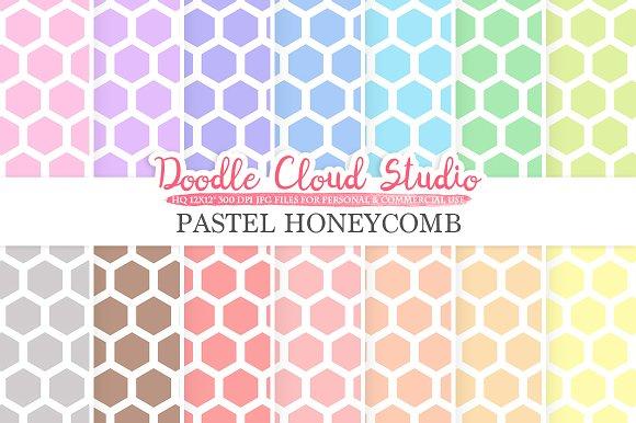 Pastel Honeycomb Digital Paper