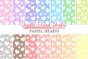Pastel Hearts digital paper