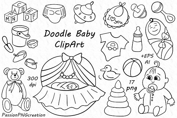 Baby Doodle Clipart
