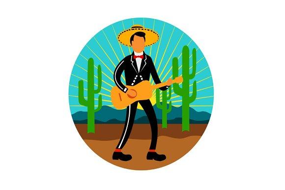Mexican Mariachi In Desert Circle Re