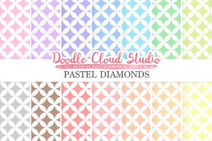 Pastel Diamond digital paper