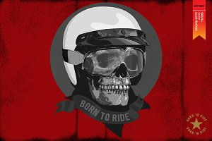 BORN TO RIDE - Vector illustration