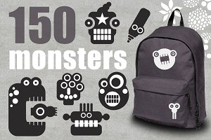 150 monsters + patterns