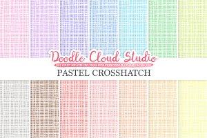 Pastel Crosshatch digital paper