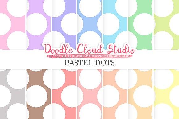 Pastel Circles Digital Paper