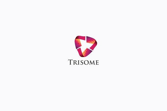 Tri Pixel Abstract Logo