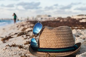 Beach Accessories On The Sandy Shore