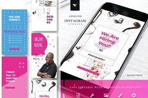 Instagram Stories Template + Animate