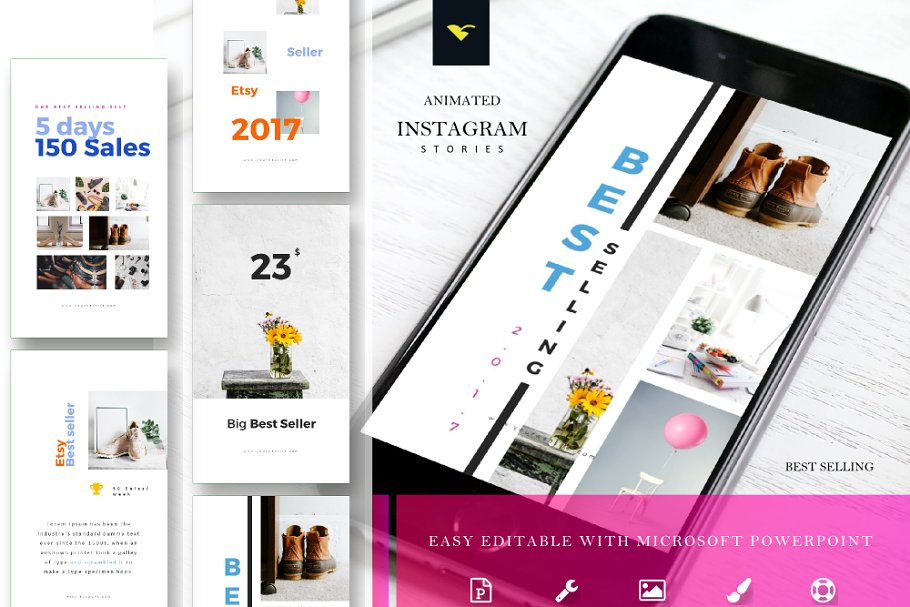 Instagram Stories Template + Animate