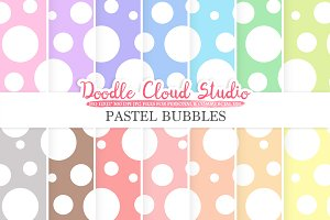 Pastel Bubbles digital paper