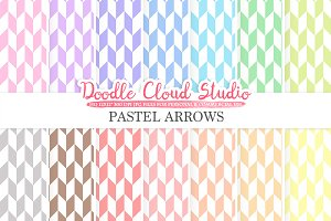 Pastel Arrows digital paper