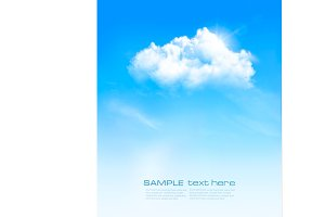 Vector background with blue sky