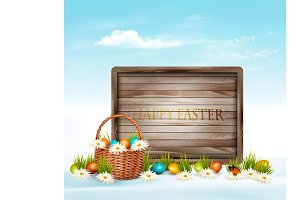Spring Easter background.