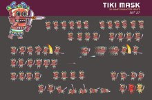 TIKI MASK GAME SPRITE