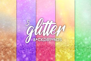 5 Pack Glitter Blurred Backgrounds!