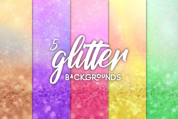 5 Pack Glitter Blurred Backgrounds!