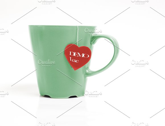 Close Up Tea Mug With Tea