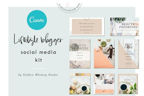 CANVA Lifestyle Blogger Kit