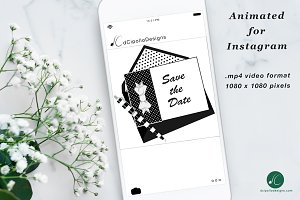 Animated Instagram Bowtie Save Date