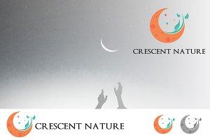 Crescent Moon Ecology Nature Logo