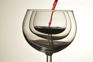 Wine Pour Silhouette