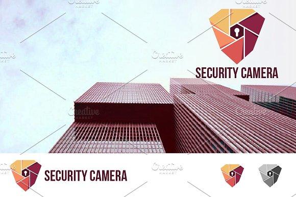 Security Camera Key Hole Shield Logo